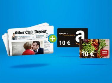 2 Monate zum Vorteilspreis lesen + 10 € Gutschein