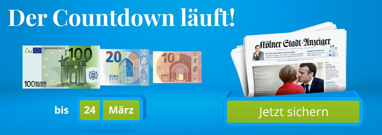 Stadt-Anzeiger 24 Monate lesen und 130 € Bonus sichern