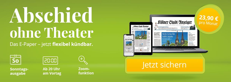 Kölner Stadt-Anzeiger E-Paper mtl. kündbar