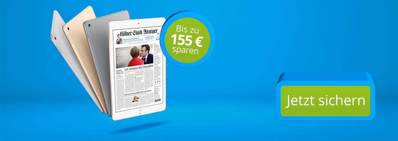 Stadt-Anzeiger 24 Monate lesen und iPad sichern!
