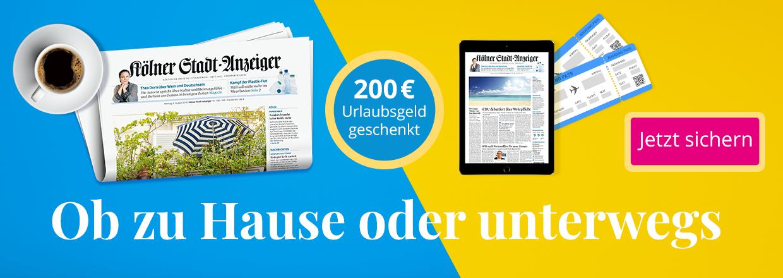 Stadt-Anzeiger 24 Monate lesen und 200 € Prämie sichern
